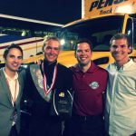 Former conductors, Brandon Stansbury, David Warren, Will Pitts, and Dean Patterson at DCI Finals in 2014.