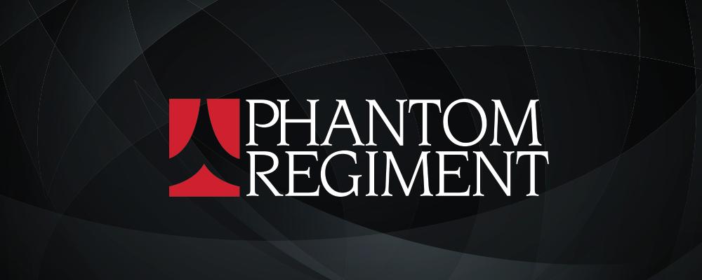 Phantom Regiment Logo with Black Background