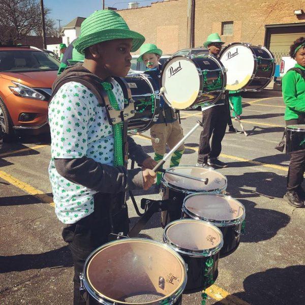 Rockford Rhythm Student at St. Patrick's Day Parade