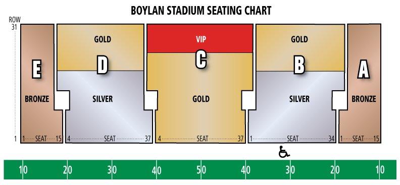 Boylan Stadium Seating Chart