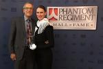 Bill Riebock receives Hall of Fame award