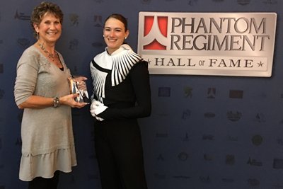 Cindi Baumgartner receives Hall of Fame Award