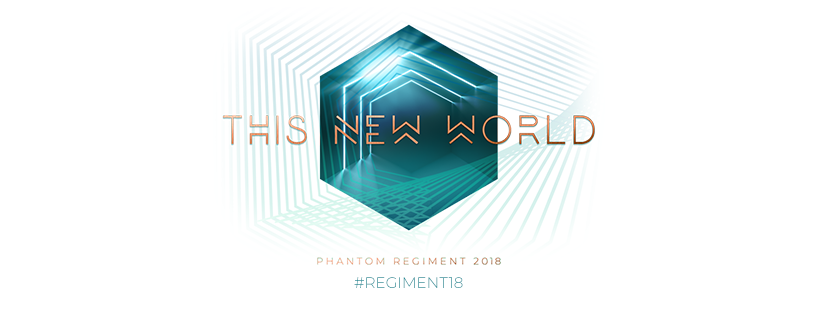"Phantom Regiment 2018 ""This New World"" Logo"