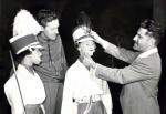 Don Ary Adjusts a Sheiko on a Phantom Regiment guard member