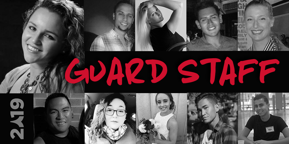 "Say, ""hello"" to the 2019 Color Guard Staff"